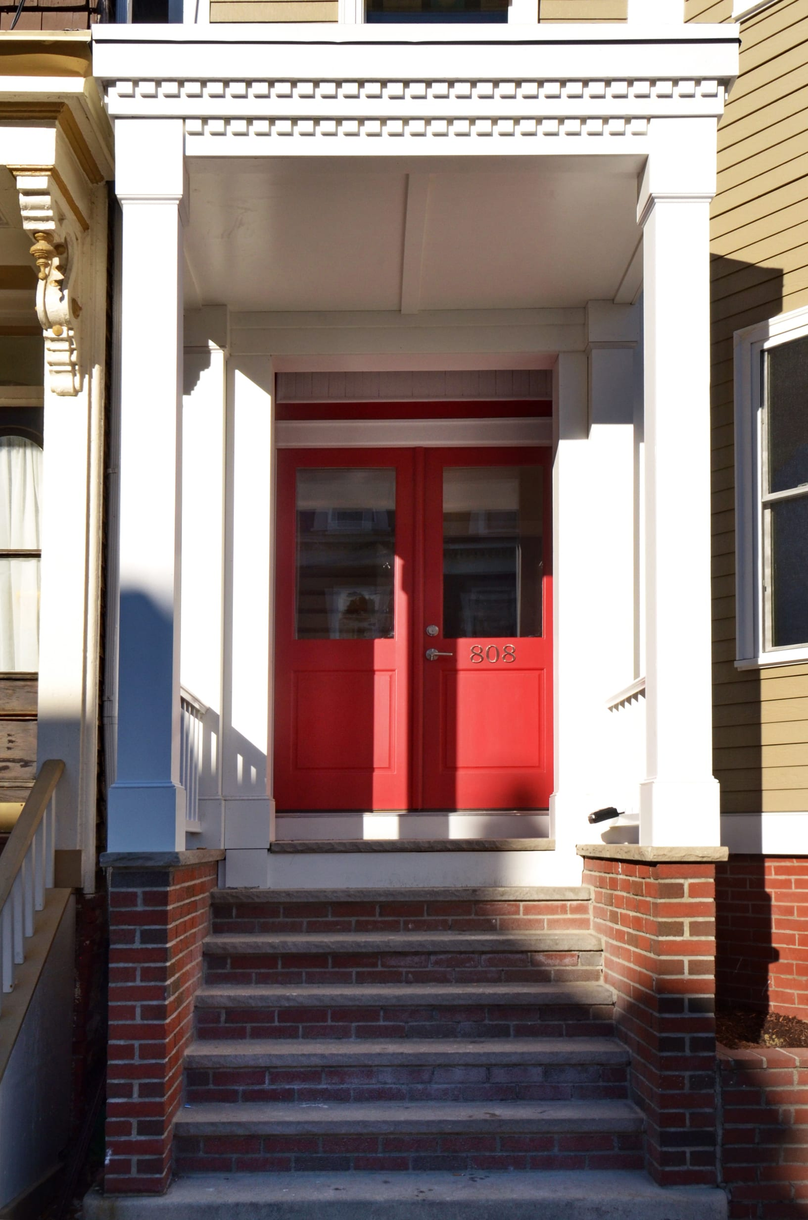 Photo of Finished Exterior Front Door of 808 E 5th Street by Kaplan Properties Boston