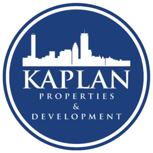 Kaplan Properties Logo Cicrular with Blue Background
